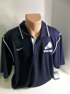 NWT NIKE Men's Dri Fit CUSTOMIZED Navy 3 Button Gung-Ho Polo Shirt XL 476281