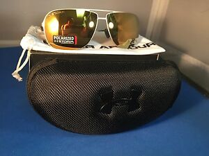 NEW UNDER ARMOUR ALLOY GOLD  GOLD POLARIZED SUNGLASSES - FREE SAME DAY SHIPPING