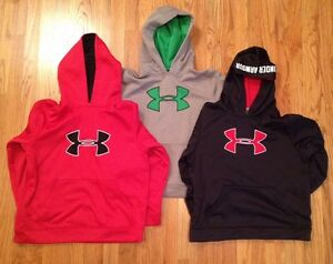UNDER ARMOUR LOT of 4 BOYS Logo Hoodie Sweatshirts Youth LARGE