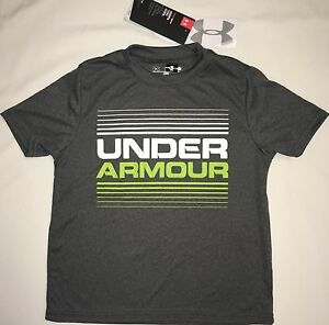 NWT youth Boys' YXL X-large UNDER ARMOUR t-shirt tee loose fit gray UPF 30 top