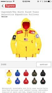 Supreme The North Face Jacket Trans Antarctica Expedition Pullover Yellow Size L