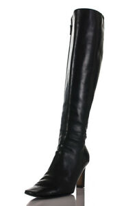 Chanel leather knee high boots Size 8