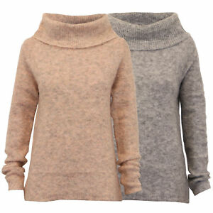 ladies cowl neck jumpers Threadbare womens knitted sweater pullover top winter