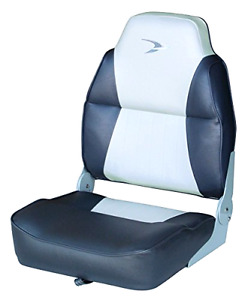 Folding Boat Seat Wise Contoured High Back Fishing Bench Bass Chair Mount Base