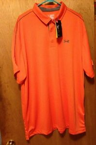 Under Armour GOLF MEN'S 3XL Orange  Polo Rugby Polyester heatgear loose fit
