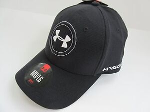 Under Armour ArmourVent™ Men's UPF 30 Stretch Fit Golf Hat Black MDLG - NWT