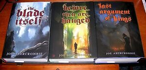 JOE ABERCROMBIE SIGNED 1ST LAW TRILOGY BLADE ITSELF BEFORE THEY ARE HANGED