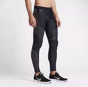 NIKE MEN'S POWER SPEED RUNNING FLASH REFLECTIVE TIGHTS 3M S M DRI FIT 800619 011