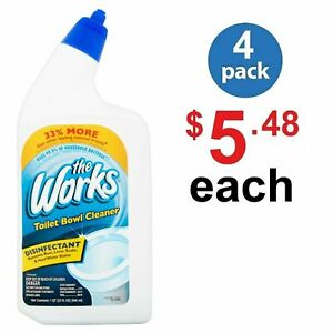 The Works Toilet Bowl Cleaner, 32 fl oz 1 qt - ( Pack of 4 Bottles )