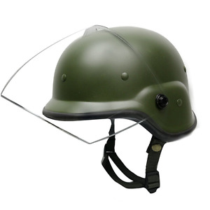 Olive Tactical Military Airsoft M88 PASGT Kelver Swat Helmet with Clear Visor