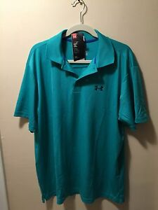NEW Under Armour Men's Loose Fit Polo Shirt With HeatGear - Keeps you Cool - XL