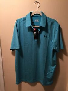 NEW Under Armour Men's Loose Fit Polo Shirt With HeatGear - Keeps you COOL - L
