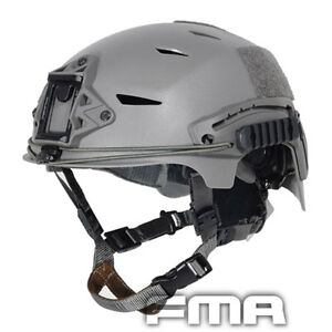 FMA Tactical Airsoft Paintball Protective EXF BUMP Fast Jump Helmet Gray TB743