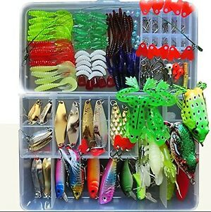 Bluenet 198pcs set 1 Set Fishing Lure Tackle Kit Bionic Bass Trout Salmon Pik...