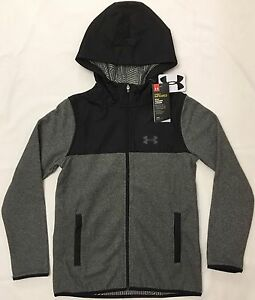 NWT youth Boys' medium UNDER ARMOUR zip-up coat coldgear INFRARED with Hood