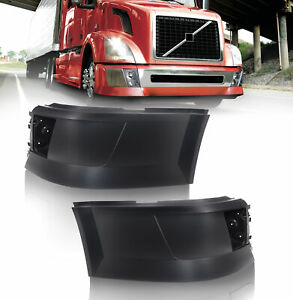 Volvo VNL Extension Corner Bumper Set Right & Left Side w/ Hole for Fog Light