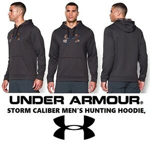 Under Armour Storm Caliber Hoodie Carbon Heather Hunting Men's XLT New with Tag