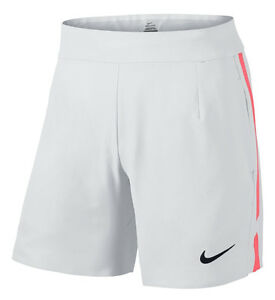 NEW MENS NIKE GLADIATOR 7 DRI-FIT STAY COOL WHITE TENNIS ATHLETIC SHORTS L $75