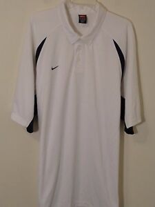 Nike Men Dry Fit Short Sleeve Polo Shirt 3XL WhiteNavy Blue