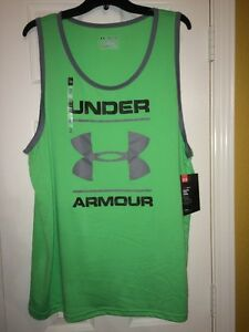 Under Armour Men's Size 2XL HeatGear Loose Fit Tank Top Shirt 1274034 387 NWT