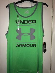 Under Armour Men's Size XL HeatGear Loose Fit Tank Top Shirt 1274034 387 NWT