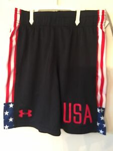 Boys Size 6 Under Armour USA Shorts New With Tags Get In Time For The 4th Ofjuly