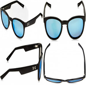 Under Armour Roll Out 8600075 010161 Round Sunglasses Satin Black 42 mm