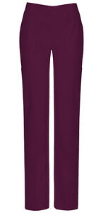 Scrubs Dickies Tall Mid Rise Pull On Pant 82204AT WIWZ Wine Free Shipping