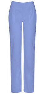 Scrubs Dickies Tall Mid Rise Pull On Pant 82204AT CIWZ Ciel Blue Free Shipping