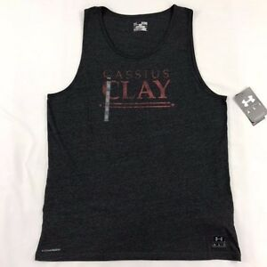 Men's Under Armour Loose Fit Muhammad Ali Cassius Clay Tank Top Shirt Heat Gear