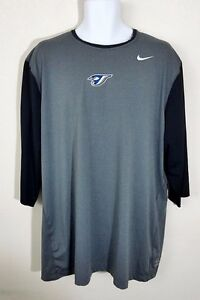 Nike Pro Fit Dry Men's 34 Sleeve MLB TORONTO BLUE JAYS Compression Shirt Sz 3XL