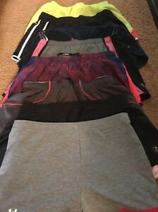 Lot Of 8 Woman's Athletic Running Shorts Under Armour Nike Adidas RBX Aaaics