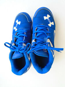 Under Armour Boys' blue baseball shoes Size 2Y