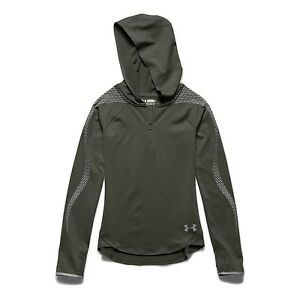 Under Armour Coldgear Reflective Popover Downtown Hoodie Girls Kid Youth YS S...
