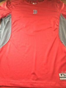 Boston Red Sox Nike Authentic Collection Dri-Fit Thermal Performance T-Shirt - L