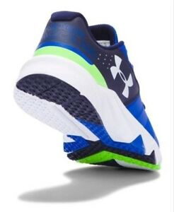 NEW Under Armour Youth Boy's Athletic UA BGS PRIMED Shoes 1273993-907 Blue Green
