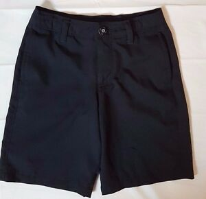 Under Armour youth kids boys S black loose dress golf shorts