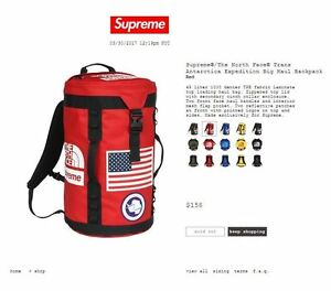 Supreme x The North Face Trans-Antarctica Expedition RED Haul Backpack (In Hand)