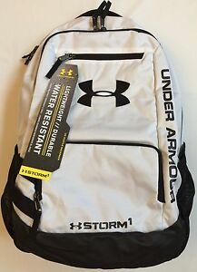 NWT YOUTH backpack UNDER ARMOUR UA Hustle STORM water resistant school bag
