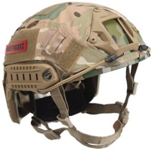 PJ Type Tactical Fast Army Helmet Airsoft Paintball Cloth Camo Cover (Multicam)