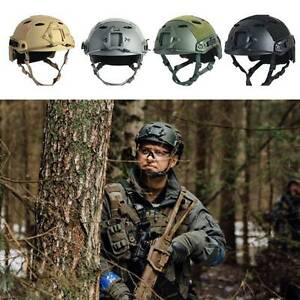 Protective Multifunction Military Tactical ABS Fast Helmet Airsoft Paintball New