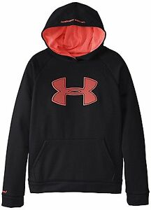 Under Armour Boy's Storm Armour Fleece Big Logo Hoodie Sweatshirt