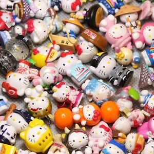 10pc Random mini doesn#x27;t repeat Hello kitty Anime action figure collection toys