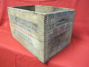 Vintage Wood Winchester Ammo Box 12 gauge Shot Gun Cartridge 2 58 500 Repeater