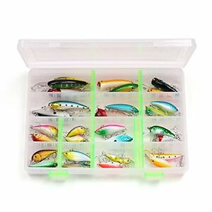 LotFancy 30 PCS Fishing Lures for Freshwater with Storeage Box Bass Length From