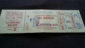vintage led zeppelin FULL ticket NEW YORK  72873 night of SONG REMAINS SAME
