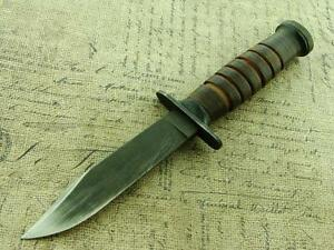 VINTAGE WW2 USA MK1 SEABEE TRENCH SURVIVAL BOWIE KNIFE HUNTING FIGHTING KNIVES