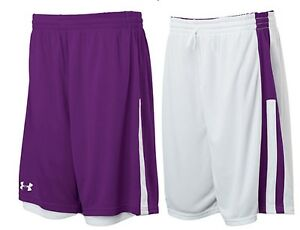 Under Armour Womens Undeniable Reversible Basketball Shorts  Purple  White