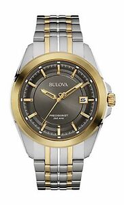 Bulova Precisionist Men's 98B273 UHF Quartz Two-Tone Bracelet 43mm Watch