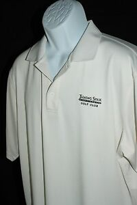 Under Armour Talking Stick Golf Club HeatGear Loose Fit White Shirt Mens Size M